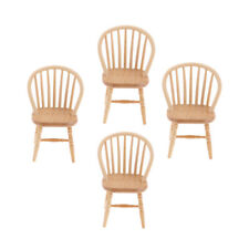 4pcs Dollhouse Miniature Home Bedroom Decor Furniture Wooden Chair 1:12