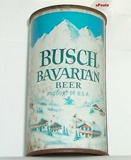 1960 Busch Bavarian Snow Mountain Flat Top Beer Can St.Louis,Mo.Missouri 5 City