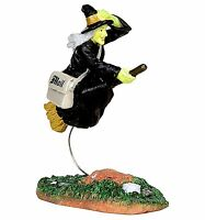 Lemax 42208 AIR MAIL Spooky Town Figurine Halloween Decor Witch Broom Figure R