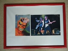 More details for iron maiden christmas card 2001 fauxsigned vintage + iron maiden photo image gem