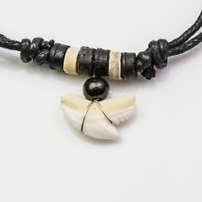 Tiger shark tooth necklace wood bead Pescecane SQUALO requin OceanicsharkAU C101
