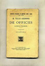 M.Tullii Ciceronis # DE OFFICIIS # Liber Primus # G. B. Paravia e C.