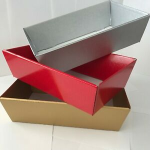 HAMPER GIFT BOXES DIY CHRSTMAS Gift Sweet Tray Cardboard CHOOSE QUANTITY