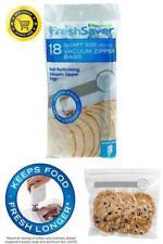 Pack of 18 Vacuum Double Zipper Bags Fresh Food Saver BPA Free