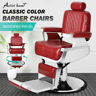 All Purpose Heavy Duty Hydraulic Red Recliner Barber Chair Salon Spa Beauty