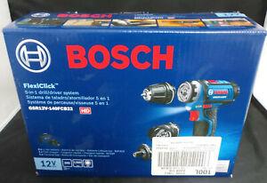 """Bosch 12V Max FlexiClick 1/4"""" 5-in1 Drill/Driver System GSR12V-140FCB22 (NEW)"""