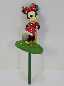 New Disney Minnie Mouse Garden Plant Container Bucket Pot Stakes Figurine Resin