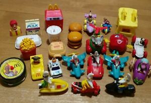 Vintage McDonalds Toys Food Transformer Moon Man  Racers Others Lot of 24