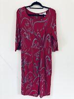 White Stuff Pink Grey Pattern Focal Point Jersey Tunic Dress Size 14 A2210