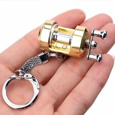 Reel Pocket Travel Key Ring Fly Fisherman Key Chain Trolling Metal Friend's Gift