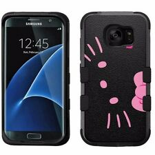 for Samsung Galaxy S7 Edge Armor Impact Hybrid Cover Case Hello Kitty #BP