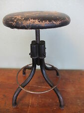 Antique Vintage Industrial Machine Age Hamilton Stool Chair Swivel Adjustable