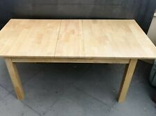 Extending Dining Table Hardwood with flip centre leaf
