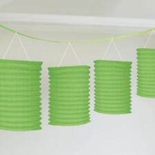 Decoración de color principal verde de papel para fiestas