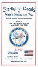 STARFIGHTER DECALS 35053 1/350 USS Enterprise CVN65 1982-01 for Tamiya FREE SHIP