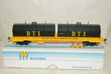 HO scale Walthers Detroit Toledo & Ironton RR steel cushion coil fat car train