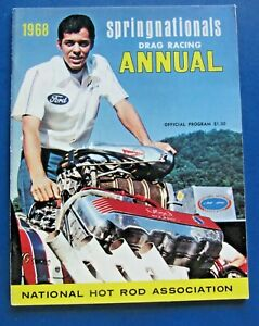 NHRA 1962 SPRINGNATIONALS Drag Racing ANNUAL OFFICIAL PROGRAM
