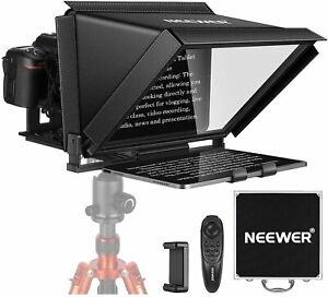 Neewer 12-inch Teleprompter for iPad Tablet Smartphone DSLR Cameras with Remote