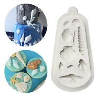 Sea Shells Silicone Mould Cake Beach Conchs Seashell Fondant Baking Mold Decor