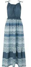 Monsoon Imelda Beach Maxi Dress Size Extra Large Blue Multi Boho Chic XL