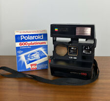 VTG Polaroid Sun 660 Autofocus Land Instant Camera 600 Land with 2 Packs Film