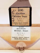 """106 Cecilian Witches Dance Op.17 McDowell 14"""" Piano Roll Farrand Organ co. 1900"""