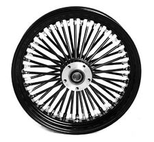 "FAT SPOKE 16"" REAR 16 x 3.5"" WHEEL BLACK HARLEY ELECTRA GLIDE ROAD KING STREET"