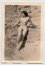 #521 RÖSSLER AKTFOTO / NUDE WOMAN STUDY * Vintage 1950s Outdoors Photo - no PC !