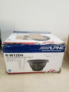 """Alpine R-W12D4 R-Series 12"""" Subwoofer With Dual 4-ohm"""