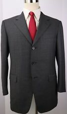 Zegna Gray Traveller Micronsphere Three Button Side Vented Wool Suit 40 S 34 28