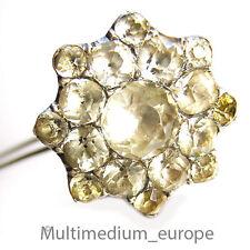 antike Biedermeier Silber Haar nadel Strass antique silver paste hair pin