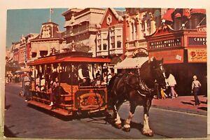 Walt Disney World Main Street USA Good Old Days Postcard Old Vintage Card View