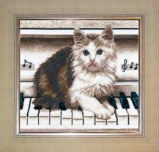 Cat On Piano - Cross Stitch Kit with Color Symbolic Scheme SKU:466
