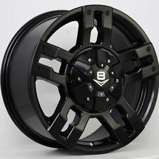 New 16 inch 16x8 V8 4x4 Wheel V-6 Matte Black For Hilux, Territory, Ranger, etc.