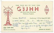 MIDDLESEX - HOUNSLOW,  1960  QSL Radio Confirmation Card  G3JHN