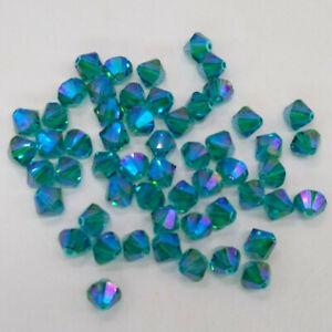 Swarovski Crystal Limited Edition Blue Zircon Shimmer 2X Bicone Bead; 4mm or 6mm