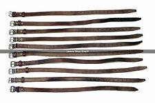 Lederriemen Vintage -  Braunes Leder - Riemen - Packriemen - 10 Stück