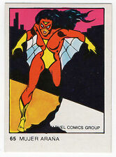 1980 Spanish Marvel Comics Superhero Terrabusi Trade Card - #65 - Spider-Woman