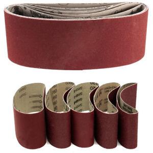 40x Gewebe Schleifbänder 75 x 533 mm Schleifband f Bandschleifer Korn 40-120 DE