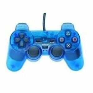 Authentic Sony PlayStation Analog Controller (Clear Blue)