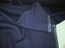 """NAVY BLUE  WOOL BLEND  SUITING FABRIC 58"""" WIDE BY THE YARD"""