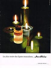 PUBLICITE ADVERTISING  1967   MARCEL ROCHAS  parfum  MOUSTACHE