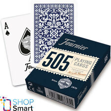 FOURNIER 505 PLASTIC COATED POKER PLAYING CARDS DECK BLUE STANDARD INDEX NEW