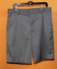 "Men's Nike Dri-Fit Flat Front Golf Shorts Gray Grey 34"" Waist 11"" Inseam"