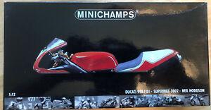 Minichamps 1/12 Scale Motorcycle 122 021200 Ducati 998 F01 WSB 2002 Neil Hodgson