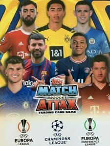TOPPS MATCH ATTAX CHAMPIONS LEAGUE 2021 2022 BASE CARDS 1 - 189 CHECKLIST