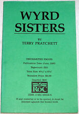 Terry Pratchett, RARE UNCORRECTED PROOF, Wyrd Sisters, DISCWORLD 6, Near Fine