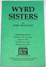 Terry Pratchett, RARE UNCORRECTED PROOF, Wyrd Sisters, DISCWORLD 6, Near Fine