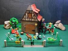 Playmobil Bauernhof wie 3555-A/1979/kompletter Zaun/Schlösser/Schild, ohne OVP!