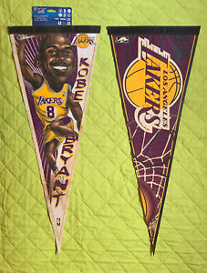 "KOBE BRYANT & LOS ANGELES LAKERS NBA 29x12"" 1-Sided 2 Pennants by WinCraft"